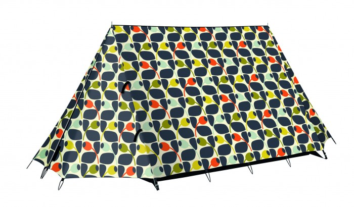 Orla Kiely Olive and Orange A-Frame Tent, -ú100, Halfords